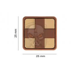 Red Cross Rubber Patch 25mm  - Desert -