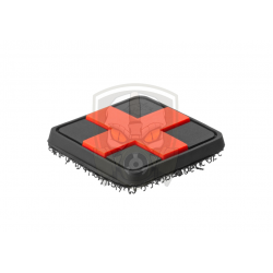 Red Cross Rubber Patch 25mm  - Blackmedic -